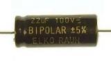 Elko bipolar - rauhe Folie 100V 10%