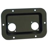 Einbauschale Neutrik D schwarz-Anschlussplatte für Speakon 8708
