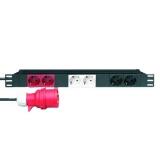 Stromverteiler 19 1 HE mit 3 getrennten Stromkreisen