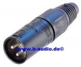 Neutrik NC3MX-BAG XLR Stecker male, schwarz