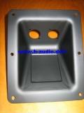 Einbauschale versenkt für 2x uni. XLR o. 4-polig Speakon