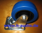 Lenkrolle 100mm, blue wheel