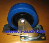 Lenkrolle 100mm, blue wheel mit Stopper
